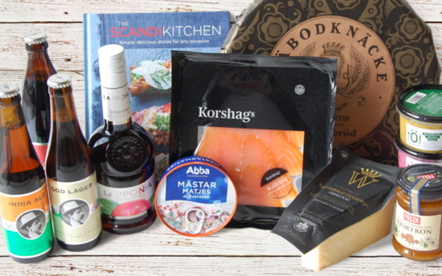 Smorgasbord of goodies hamper from Scandi Kitchen herno gin golden ticket winner