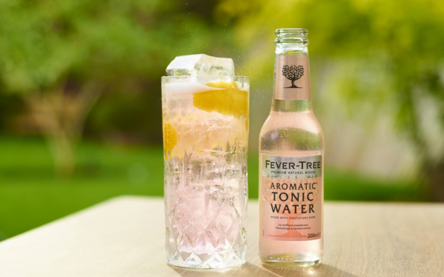 fevertree aromatic tonic water gin and tonic cocktail
