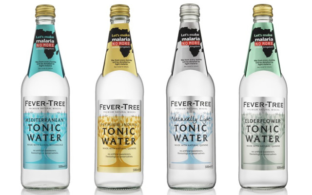 Fever Tree Malaria Bottles range