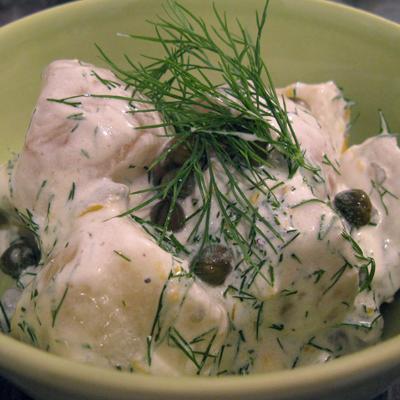 Midsummer new potato salad