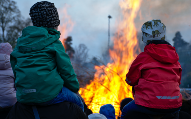 spring in sweden bonfire herno gin