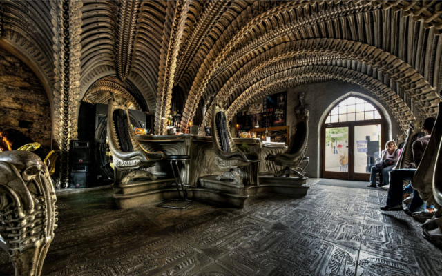 museum h.r. giger bar switzerland gin and tonic bar