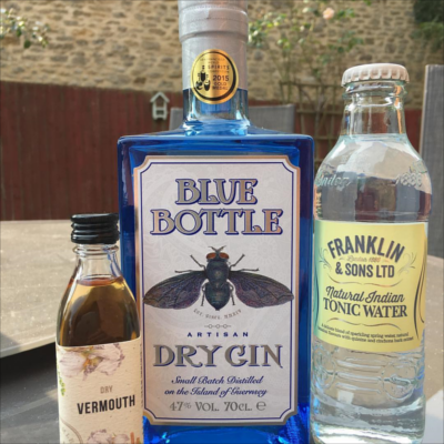 blue bottle vermouth and franklin and sons tonic