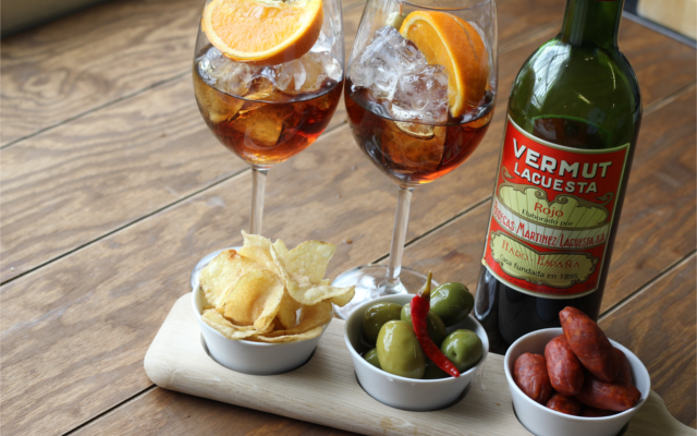 vermouth and tapas and gin and tonic