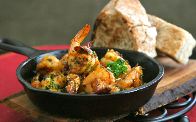Gambas Al Ajillo Garlic Prawns Tapas with Gin and Tonic
