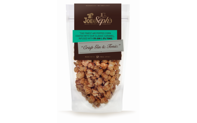 Joe & Seph's crisp gin and tonic G&T popcorn
