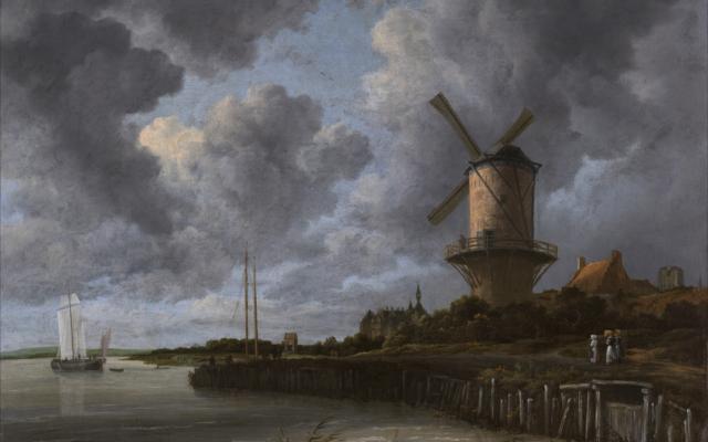 'The Windmill at Wijk' by Jacob van Ruisdael (1670)