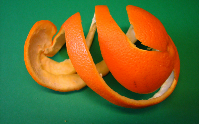 Orange peel botanical