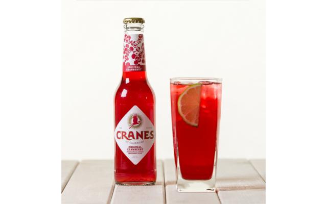 Cranes cranberry cider drink