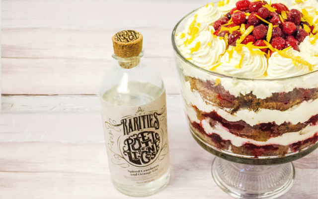 Boozy bake game Gin Trifle Poetic Licence