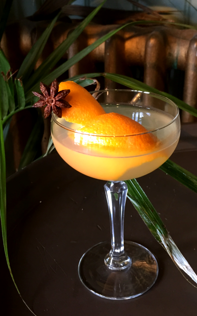 Spiced breakfast martini gin cocktail