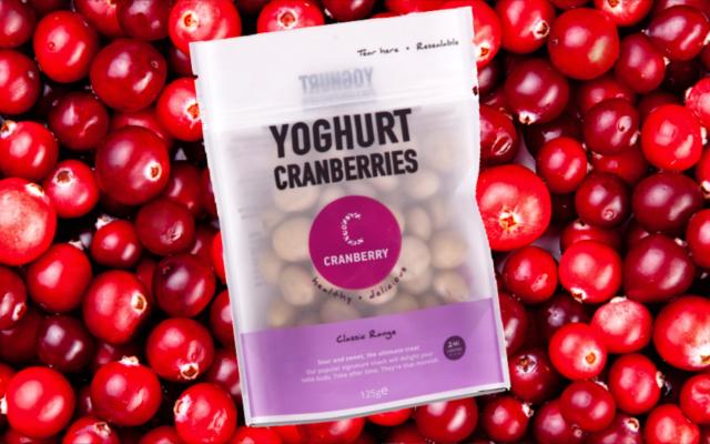 Yoghurt cranberries snack