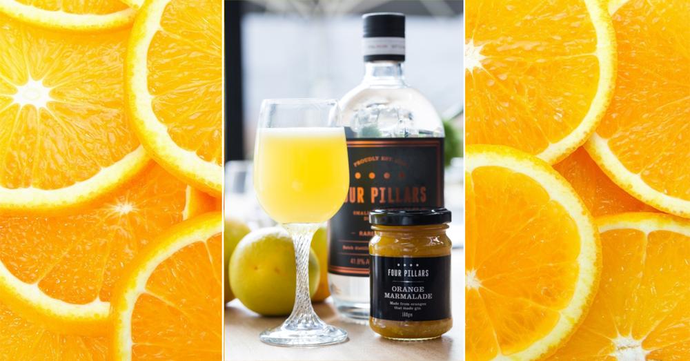 Four pillars gin Breakfast martini cocktail
