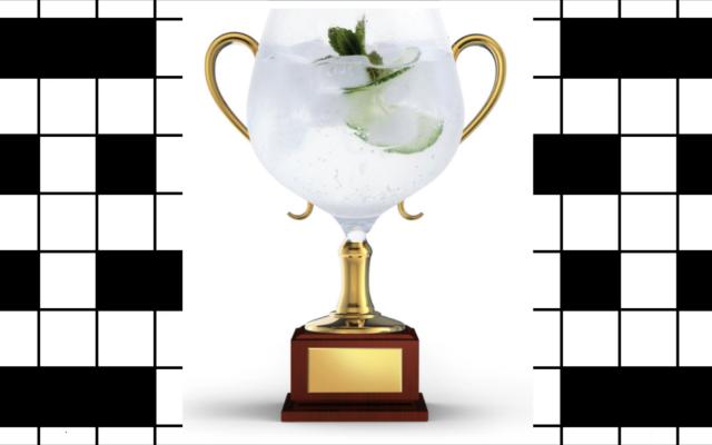 Gin crossword winner copa glass trophy