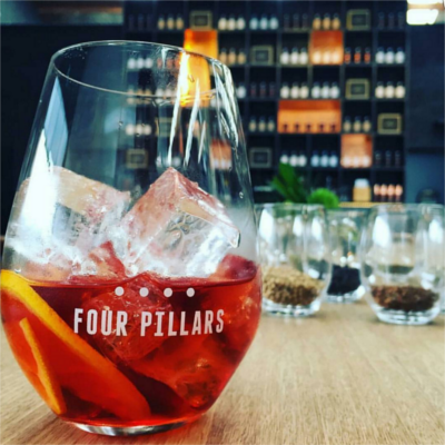 four pillars negroni gin cocktail