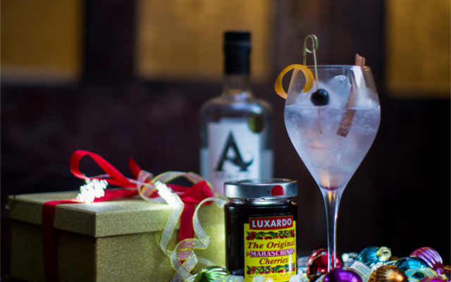 The perfect G&T luxardo cherry and Arbikie