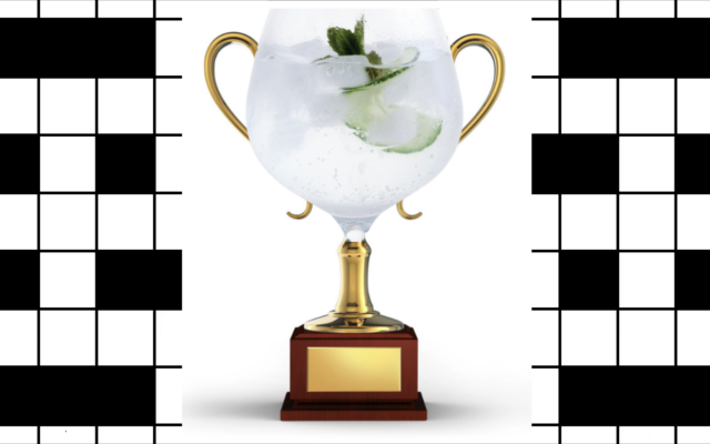 November Crossword winner gin copa glass trophy