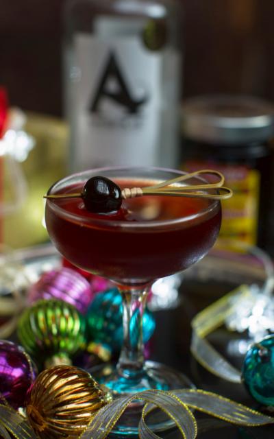 Cherry Martinez luxardo gin cocktail
