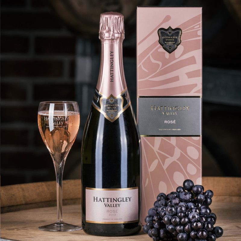 Hattingley Valley English sparkling Rose with box