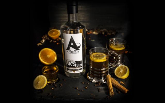 Arbikie gin by the Fire orange hot toddy