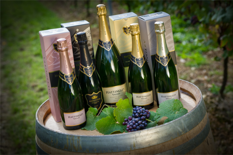 English fizz sparkling wine from Hattingley Valley