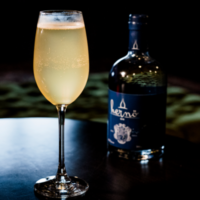 French 75 Herno gin and prosecco cocktail