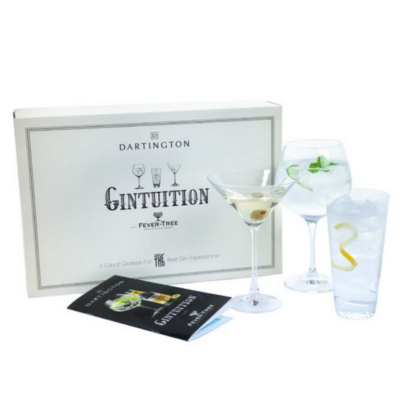 Dartington Crystal Cocktail Gin Glass Glasses set