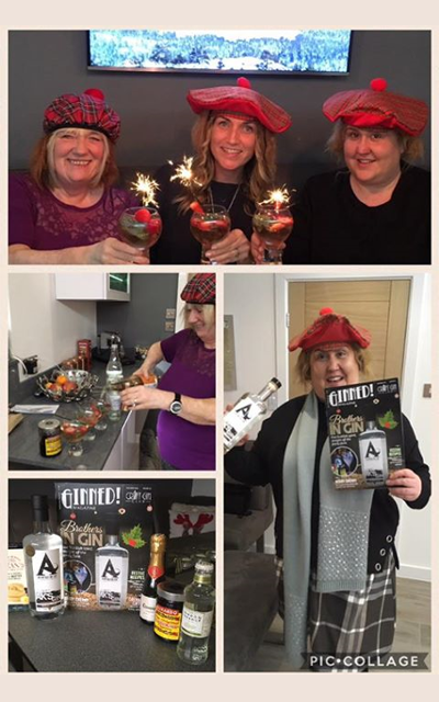 Ginstagram December Christmas Craft Gin Club box runner up scottish hats
