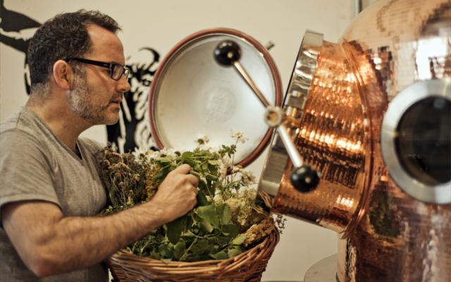 Gin distillery botanicals