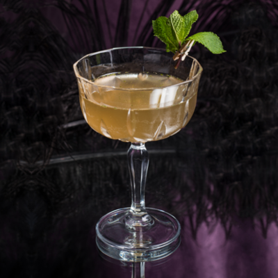 Wild martini mint gin cocktail