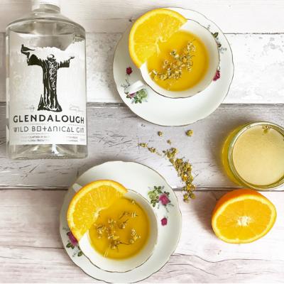 Glendalough Gin Pannacotta dessert with oranges