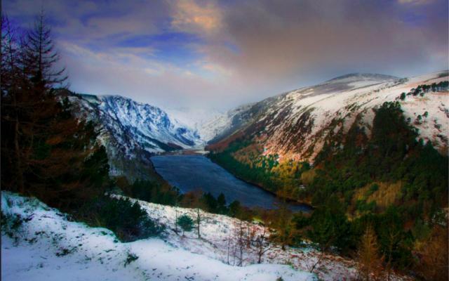 Mountain scape in Ireland Glendalough