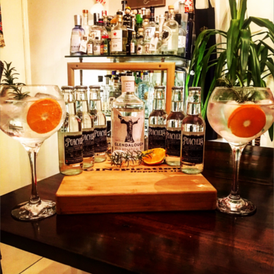 Glendalough gin and poachers tonics with grapefruit gin and tonics