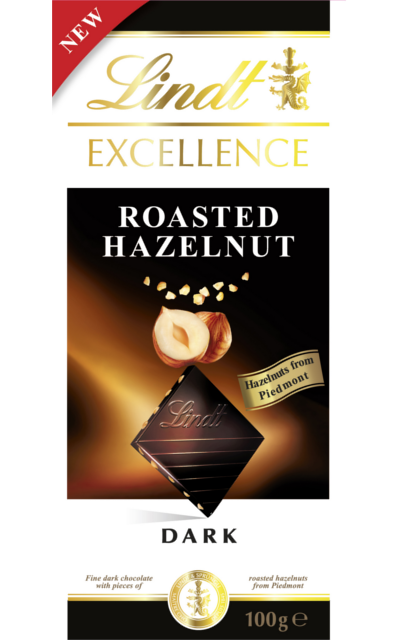 Lindt roasted hazelnut dark chocolate
