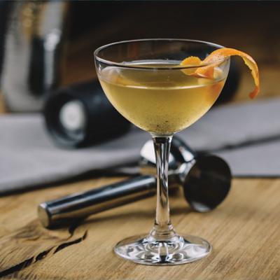 Black pepper martini with orange zest