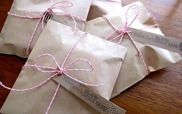 Japan valentine's day brown paper packages