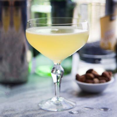 Twentieth century gin in martini glass cocktail