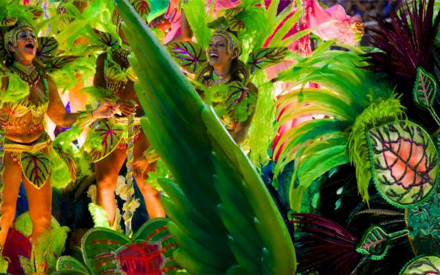 Brazil rio carnival parade