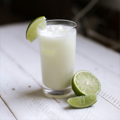 Brazilian limeade with gin and limes