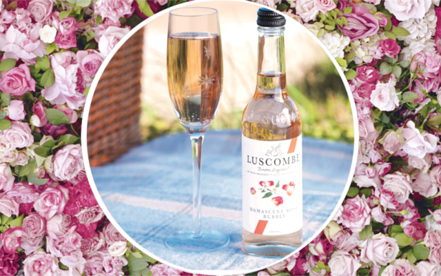 Roses and rose and prosecco gin fizz