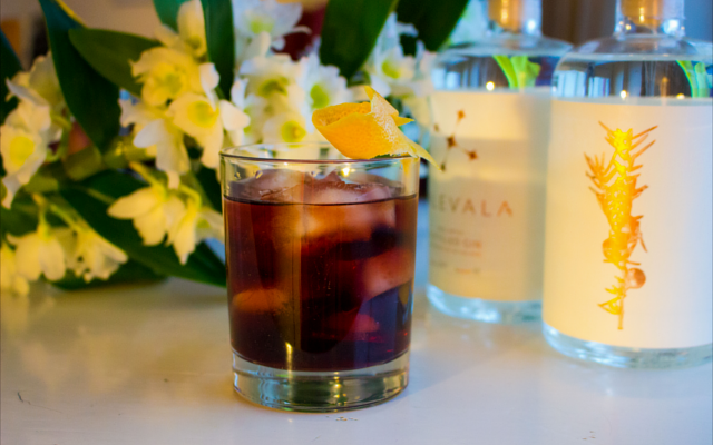 Kalevala Gin Negroni with lemon zest