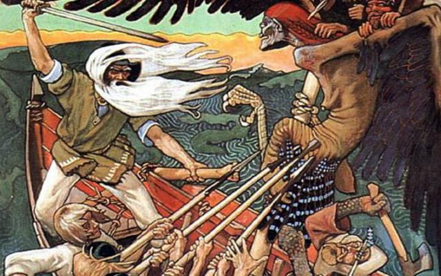 Finland folklore painting battle scene viking