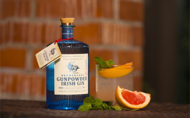 Drumshambo Gunpowder Irish Gin The curious concotion cocktail with grapefruit to garnish