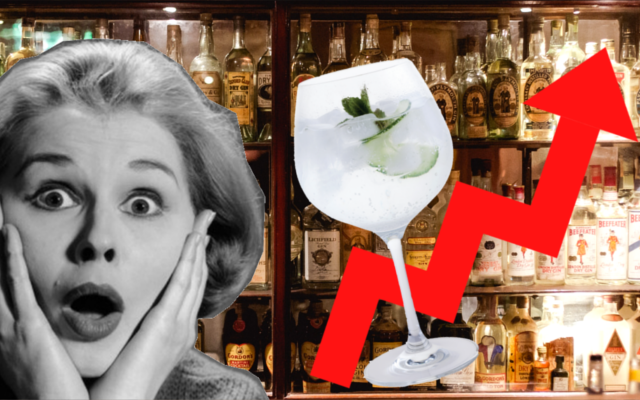 Shocked face gin bar gin and tonic inflation