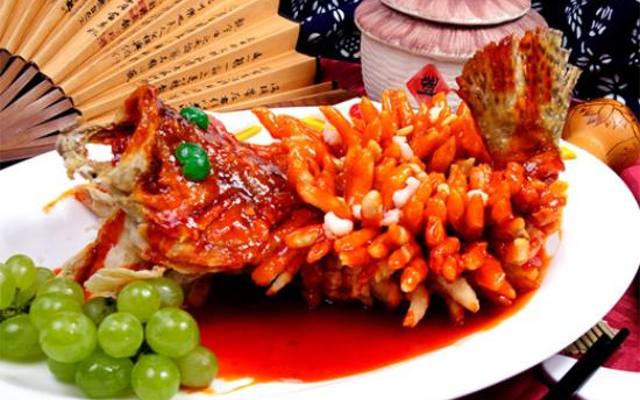 Sweet and sour mandarin fish from china