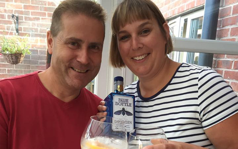 Club Member Jo R. with her gin pal.