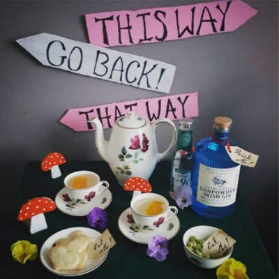 Ginstagram winner alice in wonderland themed tea cups