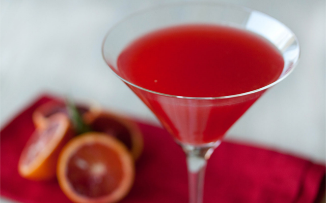 Red myth gin martini glass cocktail