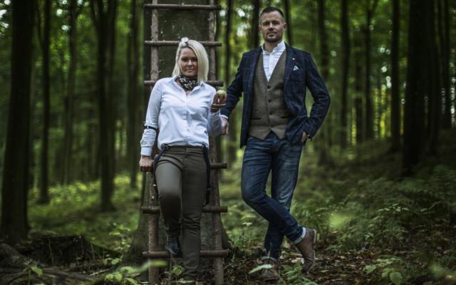 Kongsgaard owners in gloomy forrest