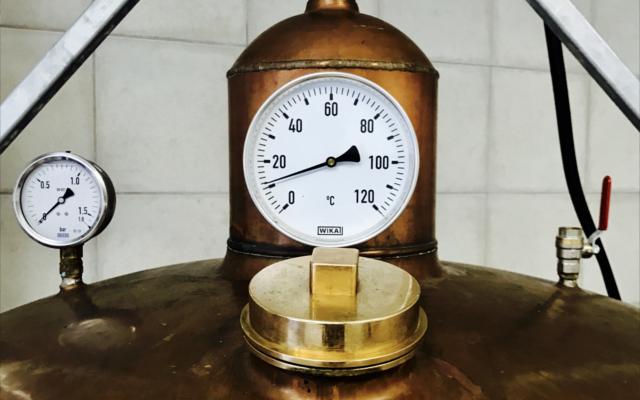 Copper Gin still at Kongsgaard factory